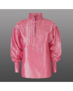 NYHET! Elvira satengskjorte, støvet rosa