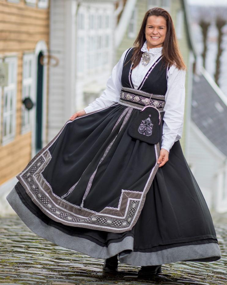 Valland bomullsskjorte, hvit   Valland Festdrakt